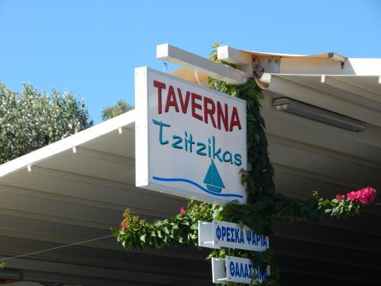 Tzitzikas: nom du restaurant