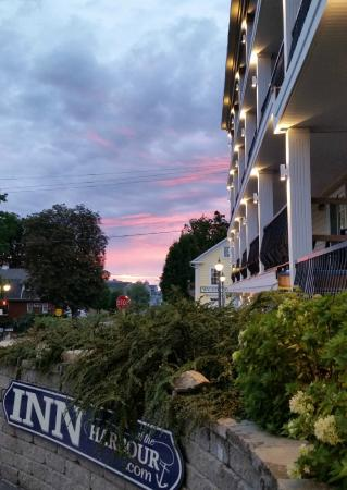 Inn at the Harbour: Front sunset view