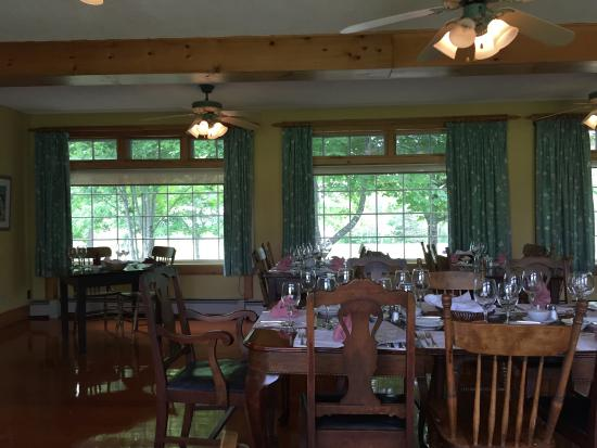 The Normaway Inn & Cabins : View from the dining room