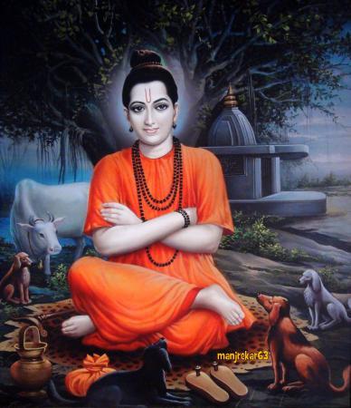 Raichur, Indien: Painting, Shri Kshetra Kuravpur