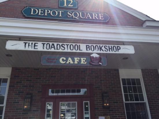 Aesop's Tables: The outside of the cafe and bookstore