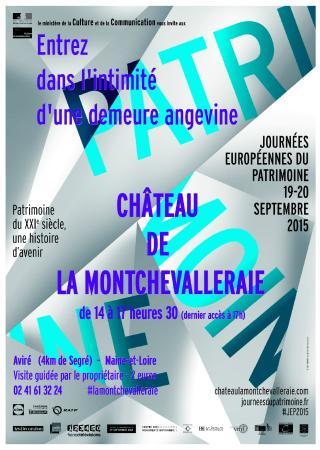 Chateau de la Montchevalleraie : Entrez dans l'intimité d'une demeure angevine du XVIIIè siècle  Les 32e Journées du Patrimoine