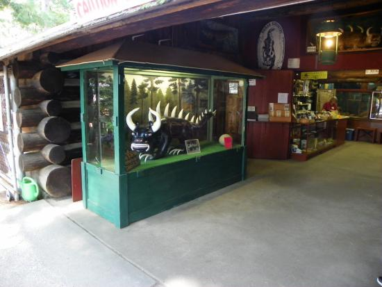 Rhinelander, WI: Entrance to shop (with captured HODAG)