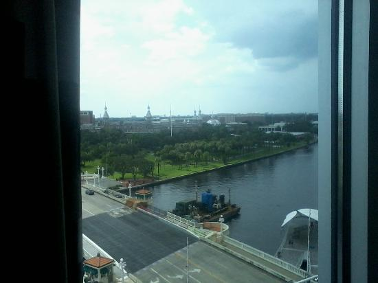 Aloft Tampa Downtown: West View out of my room University of Tampa