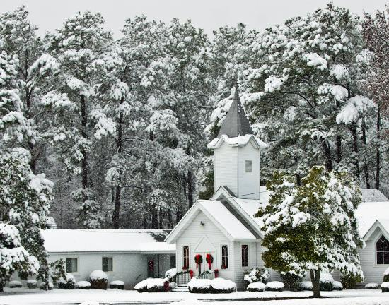 Spring Lake, NC: Beauty Shot - Church in the snow