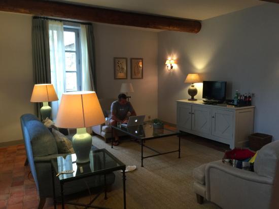 Hotel Crillon le Brave: Downstairs suite