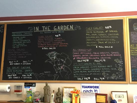 Grass Valley, CA: Wall menus