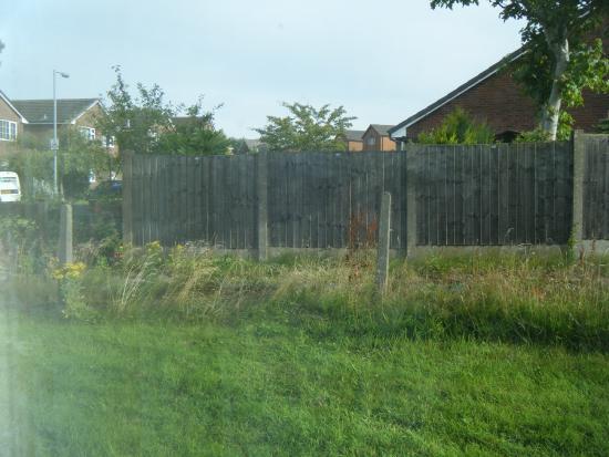 Bolton, UK: Public path outside the window.