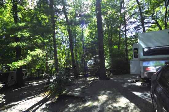 Linville Falls Campground RV Park & Cabins: Our campsite
