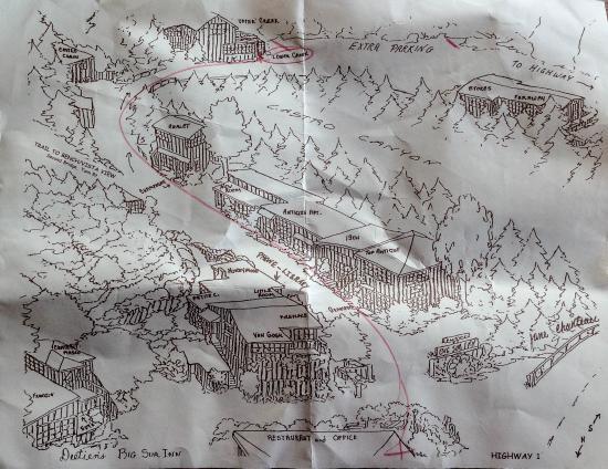 Deetjen's Big Sur Inn: Property Map