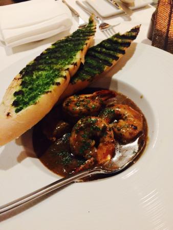 Besh Steakhouse at Harrah's: black garlic jumbo shrimps