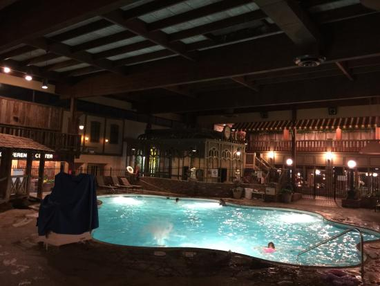 Clarion Hotel And Conference Center Pool Area At Night