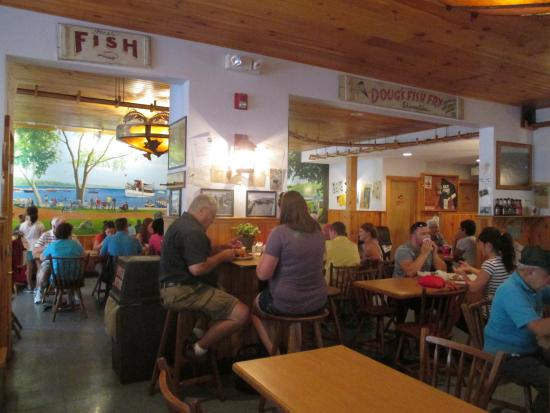 Seating area picture of doug 39 s fish fry skaneateles for Fish fry in my area