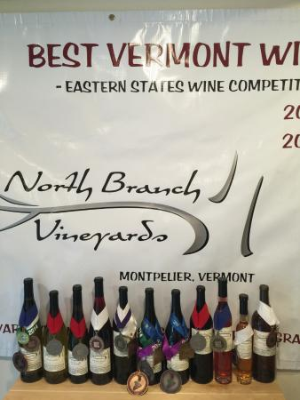 North Branch Vineyards: Every wine has won a medal!
