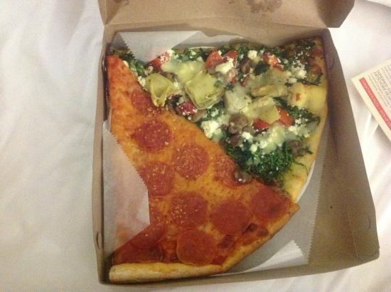 Christian's Pizza: 2 slices of pizza