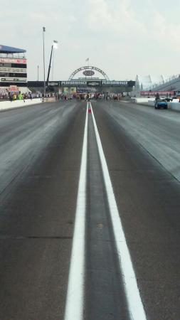 Clermont, IN: Lucas Oil Raceway at Indianapolis bottom end and 1000ft nitro finish line.