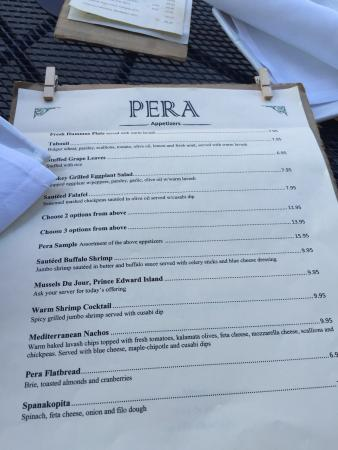 Williamstown, MA: Pera Mediterranean Bistro