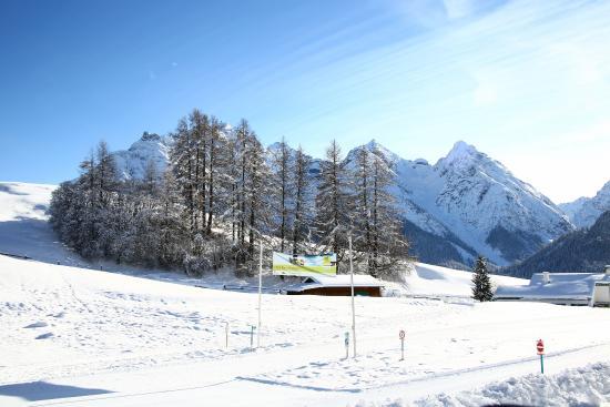 Ftan, سويسرا: Langlaufloipe Ftan