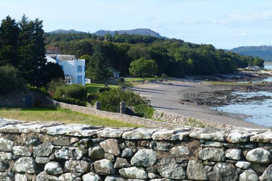 Auchencairn, UK: start of clifftop walk from the hotel