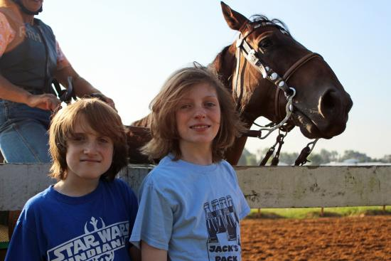 The Thoroughbred Center : grandsons and horse