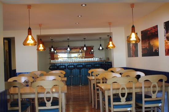 Interior picture of old school vegetarian restaurant