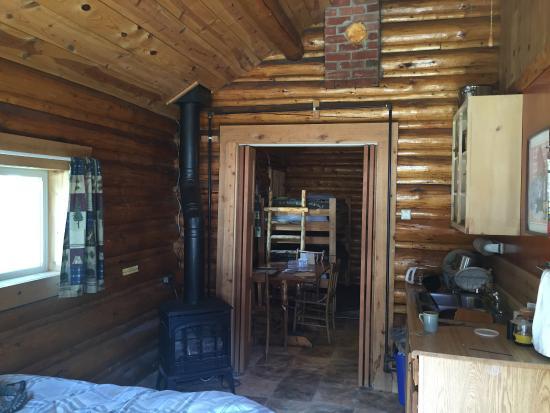 Pine Edge Cabins : View into the cabin