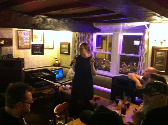 The Black Cock Inn: Entertainment in the bar