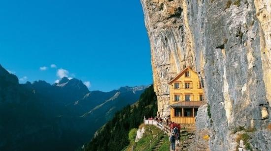 Appenzell, Switzerland: Aescher Cliff