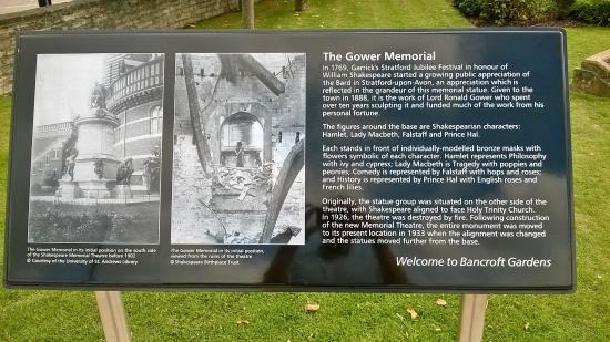 The Gower Memorial: Information Board