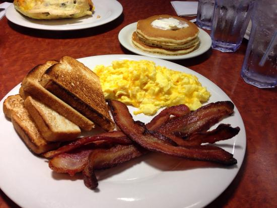 The Original Pancake House My Very Full Filling Bacon Breakfast With