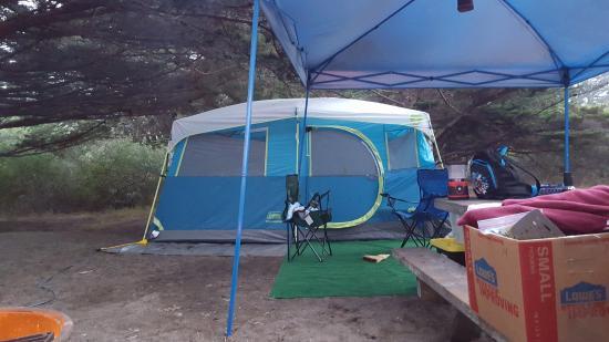 Bodega Dunes Campground: Campsite Tent