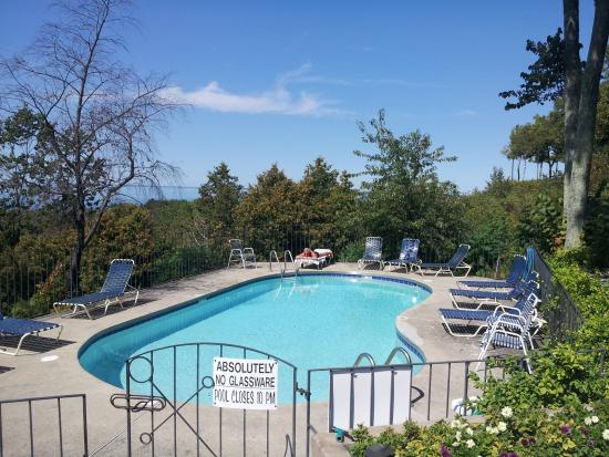 Egg Harbor, WI: Pool area near North Building Total Units 25