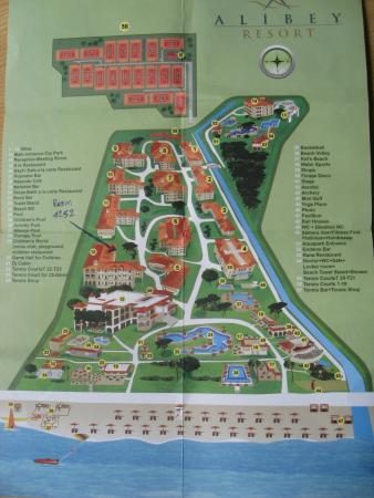 Ali Bey Resort Sorgun: Hotel map