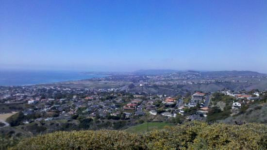 A great view of Dana Point from the hills of San Clemente.