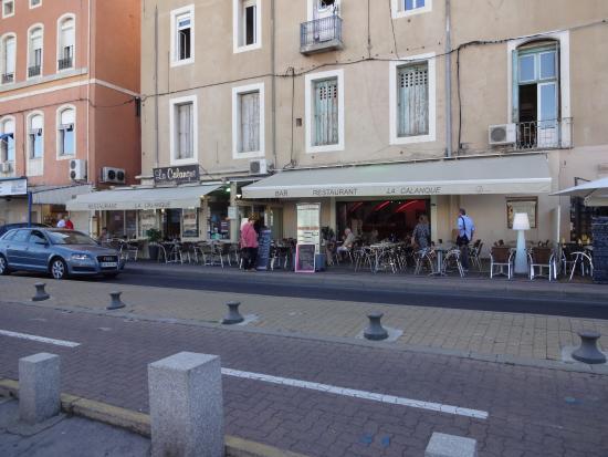 "Restaurant ""La Calanque"", Sète (Hérault), France."