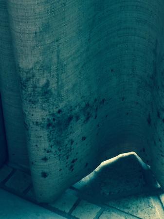 Grotto Bay Beach Resort & Spa: moldy/dirty drapes