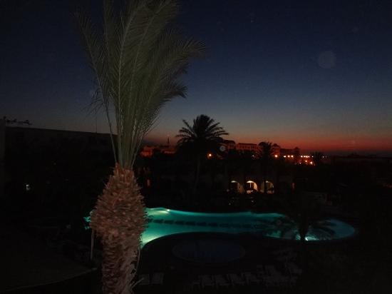 Daphne Bahia Beach: View from the room at night