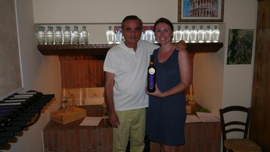 Agriturismo Bellavista Toscana: me and the lovely Maurizio