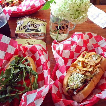 Nani's Cafe & Beach SHop: blt dog and the mexican
