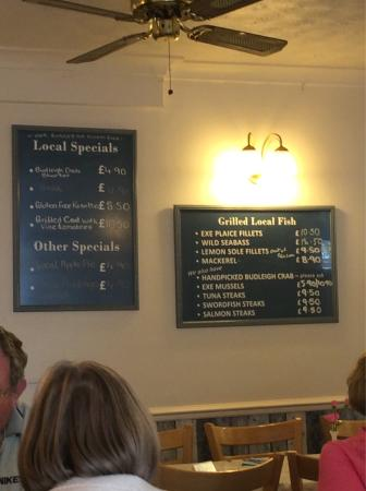Premier Cafe: The menu, specials board and the very nice Kenton Estate wine list on our visit in September 201