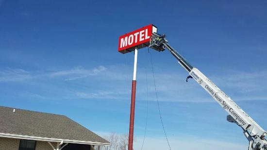 Pacific Junction, IA: Our new aerial sign!