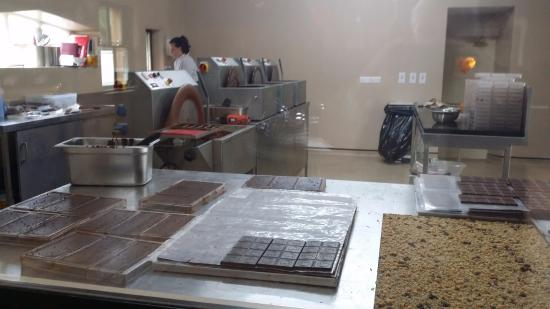 Hazel Mountain Chocolates: Burren Chocolate Factory Kitchen
