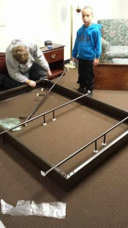 Pacific Junction, IA: Remodel...new bedframes for new beds