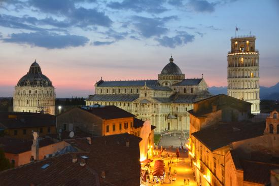 Grand Hotel Duomo: View from the rooftop bar