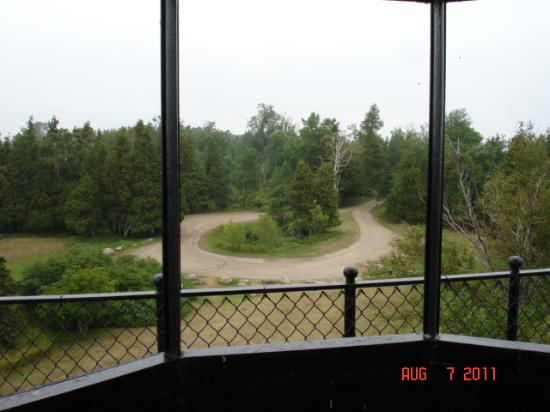 Rapid River, MI: View of road from lighthouse