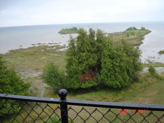 Rapid River, Μίσιγκαν: View of Lake Michigan from Lighthouse