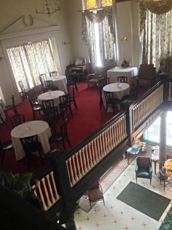 The Lowe Hotel: The dining room from the upper floor