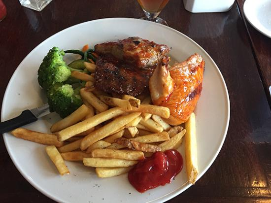 Average Joe's: BBQ Chicken and Ribs - looks good, disappointing quality