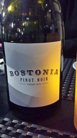 Bostonia Public House: The house pinot noir by Bread & Butter in Napa.