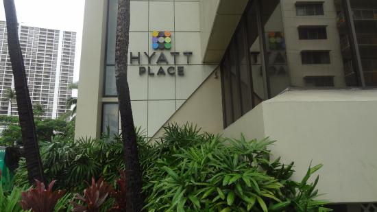 Near The Hotel Entrance Picture Of Hyatt Place Waikiki